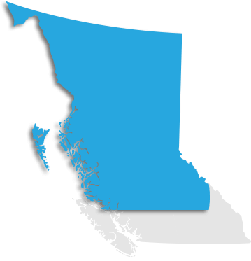 Map indicating Northern BC
