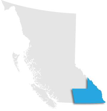 Map indication the Okanagan