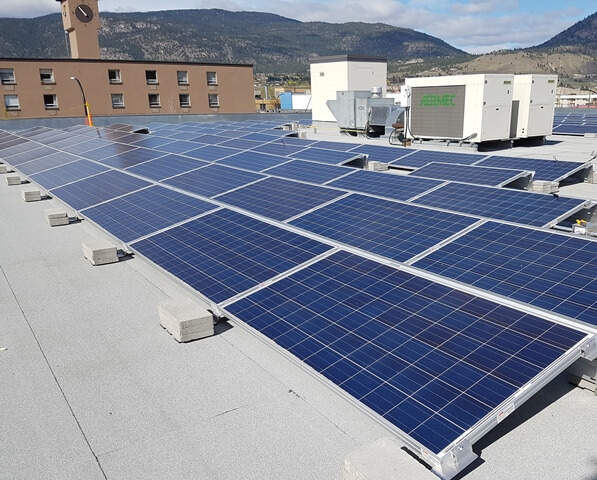 Commercial building uses solar to offset air conditioning