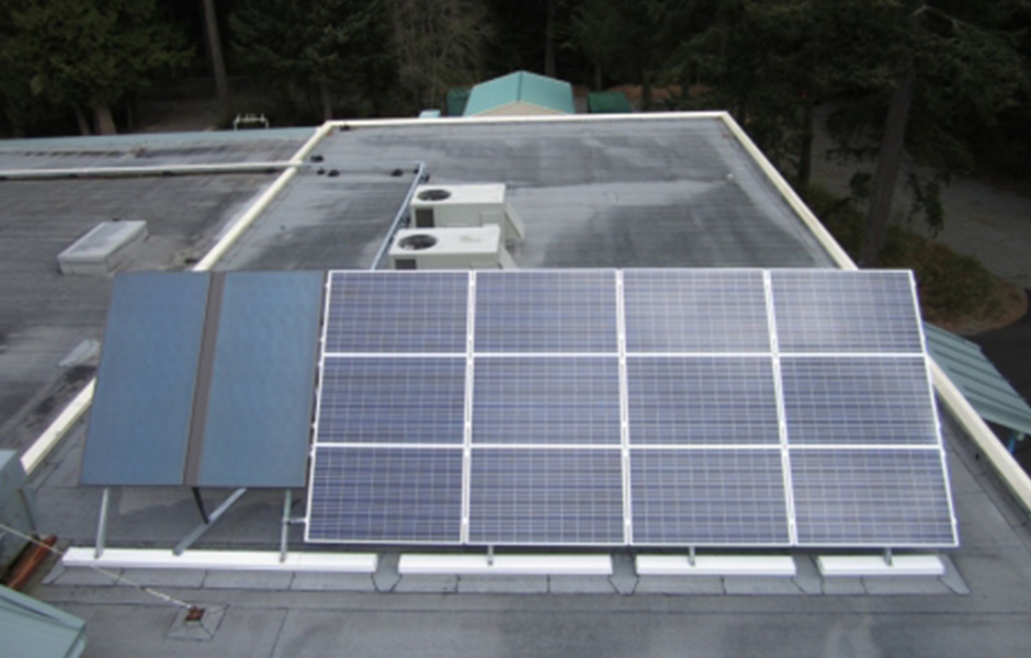 Colwood Firehall Solar Hot Water & Solar Electric