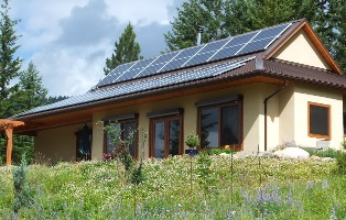 Lumby home with solar panels on roof