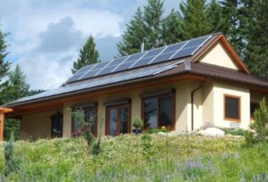 Lumby home with solar panels