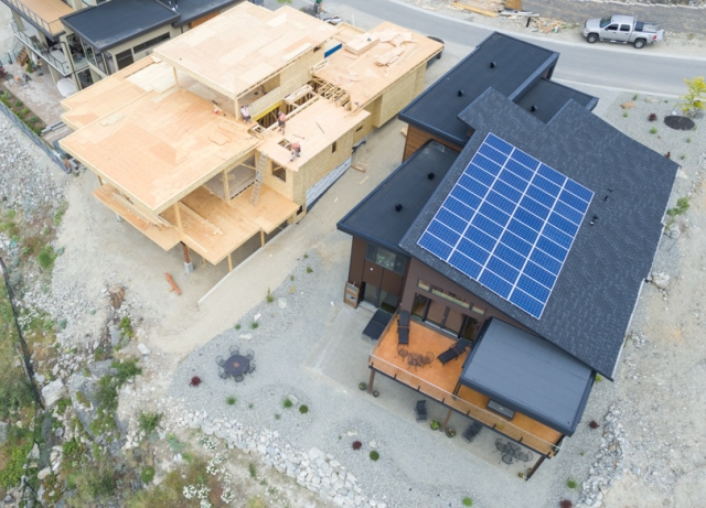 Lake Country home with solar panels.