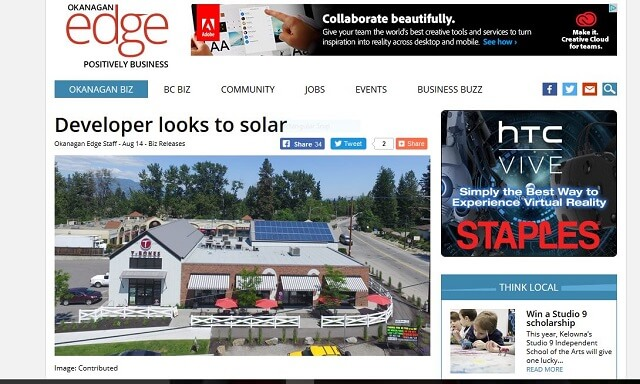News article featuring Terratek Energy