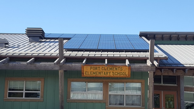 Port Clements Elementary School solar